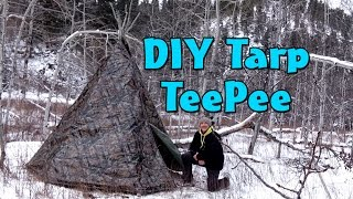 getlinkyoutube.com-How to make a DIY Tarp Teepee - Teepee Winter Campout Part 1