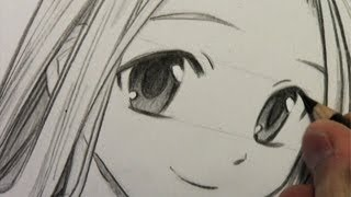 getlinkyoutube.com-How to Draw Manga Eyes, Line by Line in Real Time
