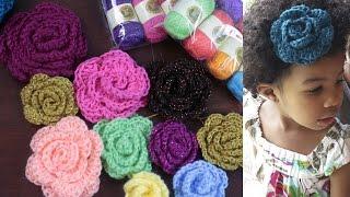 getlinkyoutube.com-How to Crochet a Flower & Yarn GIVEAWAY!