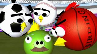 getlinkyoutube.com-Ball Games with the Angry Birds  ♫ 3D animated spoof ☺ FunVideoTV-style