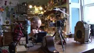 getlinkyoutube.com-Third generation Clockmaker, Steve Fletcher at Clock Workshop, Witney, UKClock and Watch Repairs