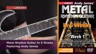 Metal Rhythm Guitar In Six Weeks With Andy James Licklibrary
