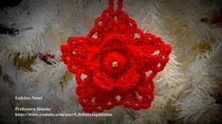 getlinkyoutube.com-Passo a passo Flor Pingente de Natal em Crochê