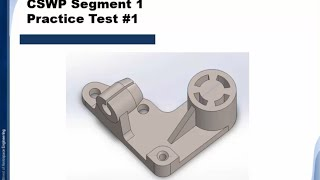 getlinkyoutube.com-Solidworks Tutorial | CSWP segment 1 | Practice Test #1 | BWEngineering