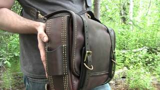 getlinkyoutube.com-The Buckeye shoulder bag, Lakelander belt pouch, and Woodsman's Utility Belt.