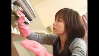 getlinkyoutube.com-Japanese Fetish AV Japanese AV Actress With Pink Glossy Rubber Glove