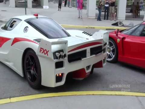 FERRARI FXX Start Up, Rev, And Accelerate -INSANLEY LOUD