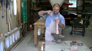 How to make a adze. Tool used to carve wooden bowls.