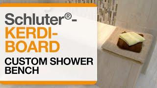 getlinkyoutube.com-How to create a custom shower bench with Schluter®-KERDI-BOARD