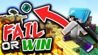 getlinkyoutube.com-Ender Pearl FAIL or WIN?! (Minecraft Skywars)