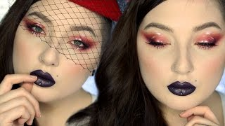 HOW TO Red Matte/Glossy Eyeshadow Makeup Tutorial