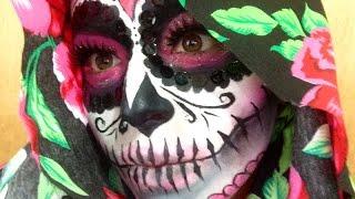 getlinkyoutube.com-Sugar skull makeup tutorial / catrina de azúcar series 2014