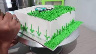 Cara Menghias Kue Ultah Sederhana Anak Laki Laki Karakter Robocar Poli width=