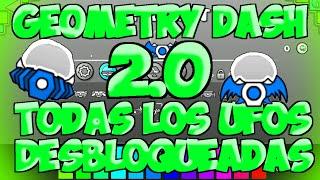 getlinkyoutube.com-TODOS LOS UFOS DESBLOQUEADOS GEOMETRY DASH VERSION 2.0