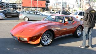 COOL 1975 CORVETTE STINGRAY PULLS INTO CAR SHOW