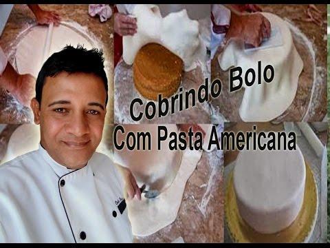 Cobrindo um bolo com Pasta Americana - confeitaria online