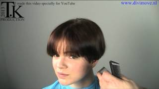 I need a strong short sexy hairstyle! Jacky  Cut and color by Theo Knoop