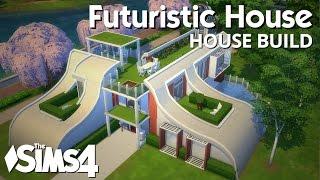 getlinkyoutube.com-The Sims 4 House Building - Futuristic House