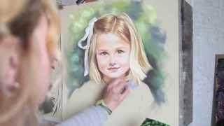getlinkyoutube.com-Pastel portrait by Graciela, Bogra