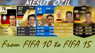 getlinkyoutube.com-Mesut Ozil Ultimate Team Cards from FIFA 10 to FIFA 15