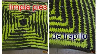 LIMPIA PIES DE TRAPILLO rectangular