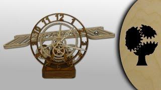 getlinkyoutube.com-Serpina - Holz-Kugellaufuhr (Wooden Rolling Ball Clock)