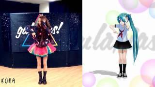 getlinkyoutube.com-【いとくとら+MMD 初音ミク】galaxias!踊ってみたコラボo(^-^)o♪