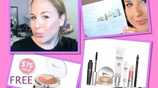 getlinkyoutube.com-*NEW* It Cosmetics Bye Bye Foundation Set~Demo & Review Chatty