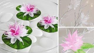 getlinkyoutube.com-DIY: Wunderschöne Blüten aus Krepp-Papier einfach selber machen | Deko Kitchen