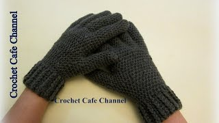 getlinkyoutube.com-كروشيه جوانتى بأصابع - #كروشيه_كافيه# Crochet Cafe