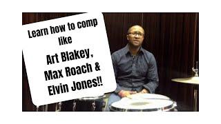 getlinkyoutube.com-Jazz Drummer Q-Tip of the Week: Comp like Art Blakey, Elvin Jones and Max Roach!
