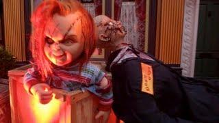 getlinkyoutube.com-Curse of Chucky : Scare Zone (HD POV) - Halloween Horror Nights 2013 at Universal Studios, CA