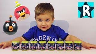 getlinkyoutube.com-★ Энгри Бёрдс Машемс Сюрпризы Игрушки Распаковка Angry Birds Mashems unboxing toys Roma Show