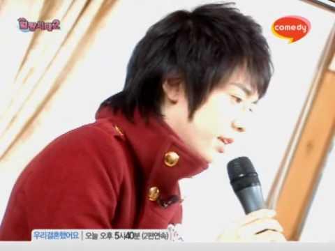 Park TaeJun singing to Lee Chihoon