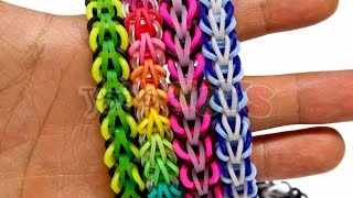 getlinkyoutube.com-How to Make a Rainbow Loom Tribal Fishtail Bracelet - EASY
