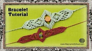 getlinkyoutube.com-Macrame Sword Bracelet Tutorial | Macrame School