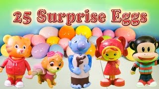 getlinkyoutube.com-PAW PATROL, Team Umizoomi, Julius Jr Surprise Eggs with Peppa Pig & Wallykazam Toys Video
