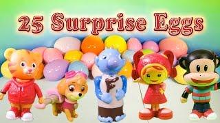 PAW PATROL, Team Umizoomi, Julius Jr Surprise Eggs with Peppa Pig & Wallykazam Toys Video