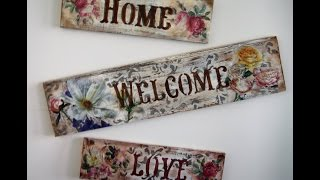 getlinkyoutube.com-Decoupage -Stencil-Decapado de tablilla