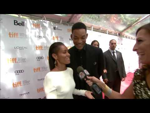 Will Smith and Jada Pinkett-Smith on the Free Angela & All Political Prisoners red carpet