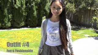 getlinkyoutube.com-Dress up plain outfits + uniform for school!