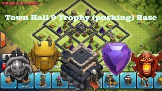 getlinkyoutube.com-Clash of Clans | Town Hall 9 Trophy Base | *Never Seen Before*