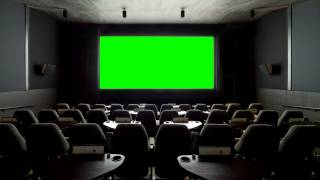 personal cinema hall in green screen free stock footage