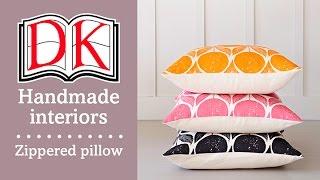 getlinkyoutube.com-Handmade Interiors: Zippered pillow