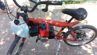 getlinkyoutube.com-mini bike minibike home made 52cc engine motorized bicycle.
