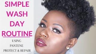 getlinkyoutube.com-Simple Natural Hair Wash Day Routine Using Pantene