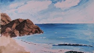How To Paint a Realistic Watercolor Beach Scene