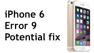 getlinkyoutube.com-iPhone 6 Error 9 Potential Fix