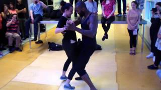 getlinkyoutube.com-Love Dance Festival 2014 Tony Pirata & Sophie Fox Semba Intro Partnerwork Predesessor to Styles like