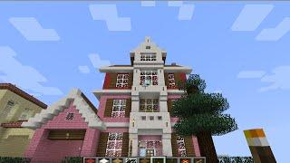 getlinkyoutube.com-minecraftสอนสร้างบ้านสไตล์USAพิเศษวันchristmas